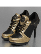 Missy Rockz Botte/Bottine Sparkling Gold noir