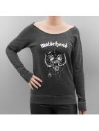 Mister Tee Kazaklar Ladies Motörhead Logo Burnout Open Edge gri