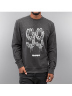 Mister Tee Pullover NinetyNine gris