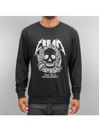 Mister Tee Pullover Cream Skull schwarz