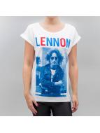 Mister Tee T-paidat Ladies John Lennon Bluered valkoinen