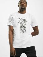 Mister Tee T-paidat Tupac Collage valkoinen