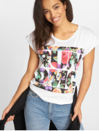 Mister Tee T-shirt Run DMC Floral bianco