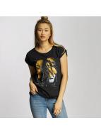 Mister Tee T-Shirt Ladies Bob Marley Lion Face black