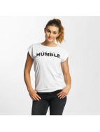 Mister Tee T-Shirt Stay Humble blanc
