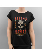 Mister Tee T-Shirt Ladies Selena Gomez Black Gloves noir
