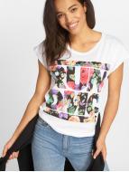 Mister Tee T-Shirt Run DMC Floral weiß