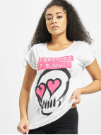 Mister Tee T-Shirt Ladies Five Seconds Of Summer Skull weiß