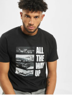 Mister Tee T-Shirty All The Way Up Stairway czarny