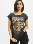 Mister Tee T-skjorter Ladies Volbeat Seal The Deal grå