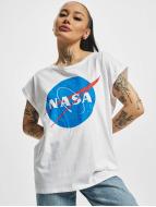 Mister Tee T-skjorter NASA Insignia hvit