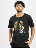 Mister Tee T-skjorter Bob Marley Lion svart