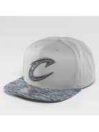 Mitchell & Ness Snapback Solid Crown Space Knit Visor Cleveland Cavaliers šedá
