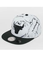 Mitchell & Ness Snapback White And Black Marble Chicago Bulls blanc