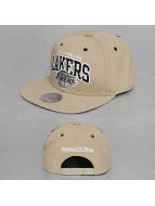 Mitchell & Ness Snapback Cap Black and White Arch Los Angeles Lakers beige