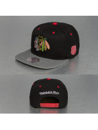 Mitchell & Ness Snapback Cap Greytist Chicago Blackhawks black