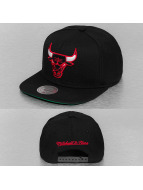 Mitchell & Ness Snapback Cap Wool Solid Chicago Bulls black