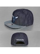 Mitchell & Ness Snapback Cap Blue Linen Chicago Bulls blau