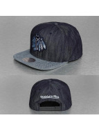 Mitchell & Ness Snapback Cap Blue Linen NHL Chicago Blackhawks blau