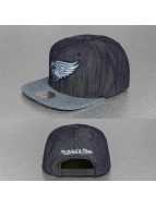 Mitchell & Ness Snapback Cap Blue Linen Detroit Red Wings blau