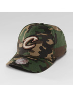 Mitchell & Ness NBA Woodland Camo And Suede Clevaland Cavaliers Snapback Cap Camouflage/Black