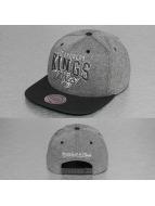 Mitchell & Ness Snapback Cap Nubuck 2 Tone LA Kings grau