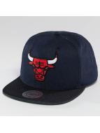 Mitchell & Ness Snapback Cap Raw Denim 3 Tone PU Chicago Bulls grau