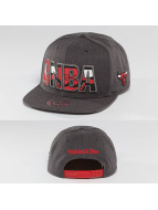 Mitchell & Ness Snapback Cap Insider Reflective Chicago Bulls grau