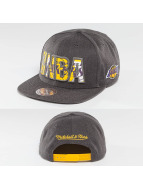 Mitchell & Ness Snapback Cap Insider Reflective LA Lakers grau