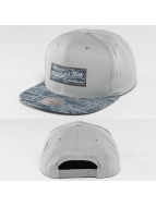 Mitchell & Ness Snapback Cap Solid Crown Space Knit Visor grau