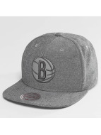 Mitchell & Ness Snapback Cap NBA Italian Washed Brooklyn Nets grau