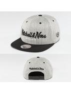 Mitchell & Ness Snapback Cap 3-Tone Logo grau