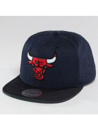 Mitchell & Ness Snapback Cap Raw Denim 3 Tone PU Chicago Bulls grey