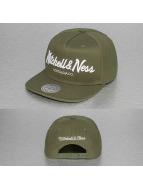 Mitchell & Ness snapback cap Pinscript olijfgroen