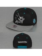 Mitchell & Ness Snapback Cap Greytist San Jose Sharks schwarz