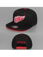 Mitchell & Ness Snapback Cap Solid Velour Detroit Red Wings Logo schwarz