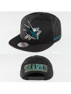 Mitchell & Ness Snapback Cap NHL Black Ripstop Honeycomb San Jose Sharks schwarz