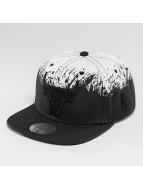 Mitchell & Ness Splatter Chicago Bulls Snapback Cap Black/Black/White