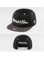 Mitchell & Ness Snapback Cap 2-Tone Logo schwarz