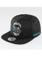 Mitchell & Ness snapback cap NBA Black Ripstop Honeycomb Charlotte Hornets zwart