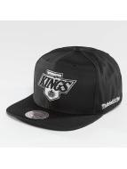 Mitchell & Ness snapback cap NHL Black Ripstop Honeycomb LA zwart