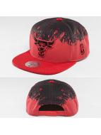 Mitchell & Ness Snapback Caps Spatter Chicago Bulls czerwony