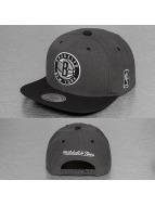 Mitchell & Ness Snapback Caps G3 Brooklyn Nets Logo harmaa