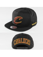 Mitchell & Ness Snapback Caps NBA Black Ripstop Honeycomb Cleveland Cavaliers musta