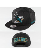 Mitchell & Ness Snapback Caps NHL Black Ripstop Honeycomb San Jose Sharks musta