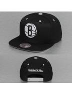 Mitchell & Ness Snapback Solid Velour Brooklyn Nets Logo noir
