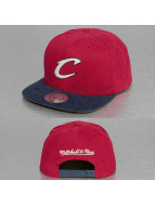 Mitchell & Ness Snapback Sandy Off White Cleveland Cavaliers rouge