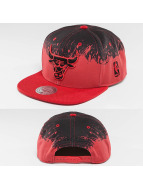 Mitchell & Ness Snapback Spatter Chicago Bulls rouge