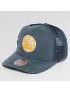 Mitchell & Ness Trucker Caps NBA Washout 110 Flexfit Golden State Warriors blå