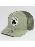Mitchell & Ness Trucker Caps NBA Washout 110 Flexfit Boston Celtics oliwkowy